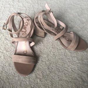 Same Edelman nude suede sandal